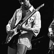 Paul At Work On His Guitar In 1977 Art Print