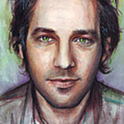 Paul Rudd Portrait Art Print by Olga Shvartsur