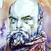 Paul Verlaine - Watercolor Portrait.1 Art Print