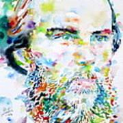 Paul Verlaine - Watercolor Portrait.2 Art Print