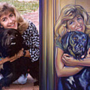 Paula Commissioned Portrait Side By Side Art Print