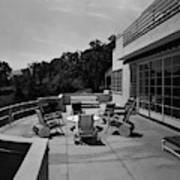 Paved Terrace At The Residence Of Mr. And Mrs Art Print