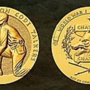 Pawnee Nation Tribe Code Talkers Bronze Medal Art Art Print
