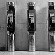 Pay Phones 2b Art Print