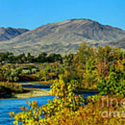 Payette River And Squaw Butte Art Print