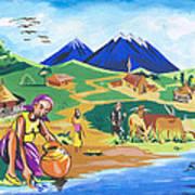 Paysage Du Nord Du Rwanda Art Print