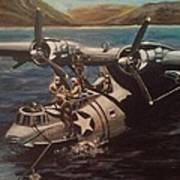 Pby 5 Loading At Pearl Harbor Art Print