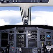 Pc 12 Cockpit Art Print