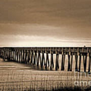 Pc Beach Pier Art Print