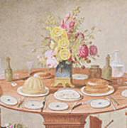 Pd.869-1973 Still Life With A Vase Art Print