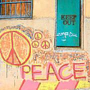 Hippie Graffiti - Peace But Keep Out Art Print
