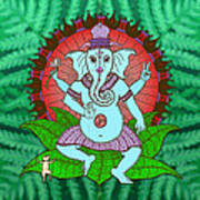 Peace Ganesh Dancing Art Print