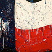 Peace Love And Texas Art Print by Debi Starr