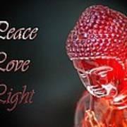 Peace Love Light Art Print