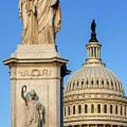 Peace Monument And Capitol Art Print