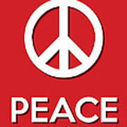 Peace Red Art Print