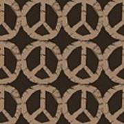Peace Symbol Collage Print by Michelle Calkins