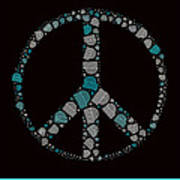 Peace Symbol Design - 87d Art Print by Variance Collections