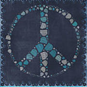 Peace Symbol Design - Btq19at2 Art Print by Variance Collections