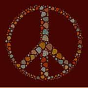 Peace Symbol Design - S05d Art Print