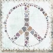 Peace Symbol Design - S76at02 Art Print