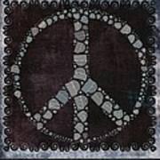 Peace Symbol Design - S79bt2 Art Print