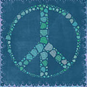 Peace Symbol Design - Tq19at02 Art Print by Variance Collections