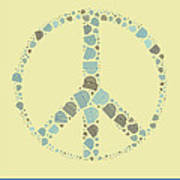 Peace Symbol Design - Y87d Art Print by Variance Collections