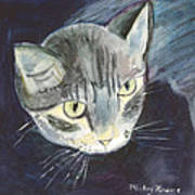 Peace The Cat Art Print