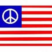 Peace Usa Flag Art Print