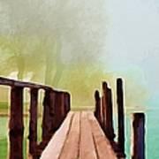 Peaceful Foggy Day Art Print