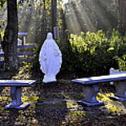 Peaceful Place To Pray With Mary Art Print