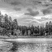 Peaceful Times 2 Black And White Art Print