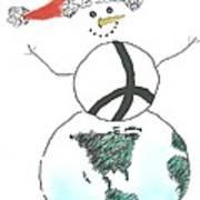 Peacemaker Snowman Art Print