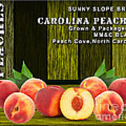 Peach Farm Art Print