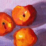 Peach Trio Art Print