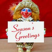 Peaches - Season's Greetings Art Print