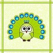 Peacock  - Birds - Art For Kids Art Print