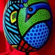 Peacock Egg II  Art Print