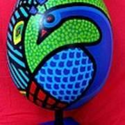 Peacock Egg Art Print