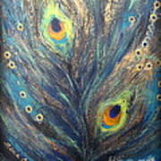 Peacock Eyes Art Print by Elena  Constantinescu
