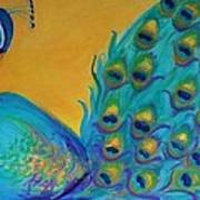 Peacock Prince Art Print by Gwen Carroll