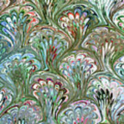 Peacock Shell Pattern Abstract Art Print