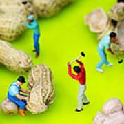 Peanut Workers Little People On Food Art Print