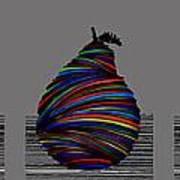 Pear 2005 Grey Art Print