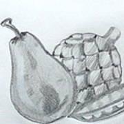 Pear Artichoke Snap Pea Art Print