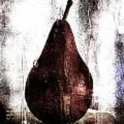 Pear In Window Art Print by Carol Leigh