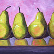 Pear Line Art Print