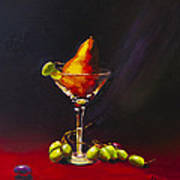Pear Martini Art Print