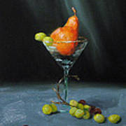 Pear Martini Art Print